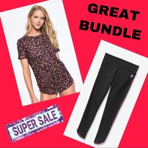 *BUNDLE* Victoria Secret PINK Tee & Legging Set